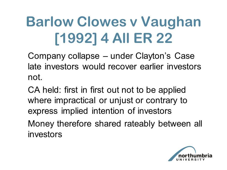 Barlow Clowes v Vaughan [1992] 4 All ER 22